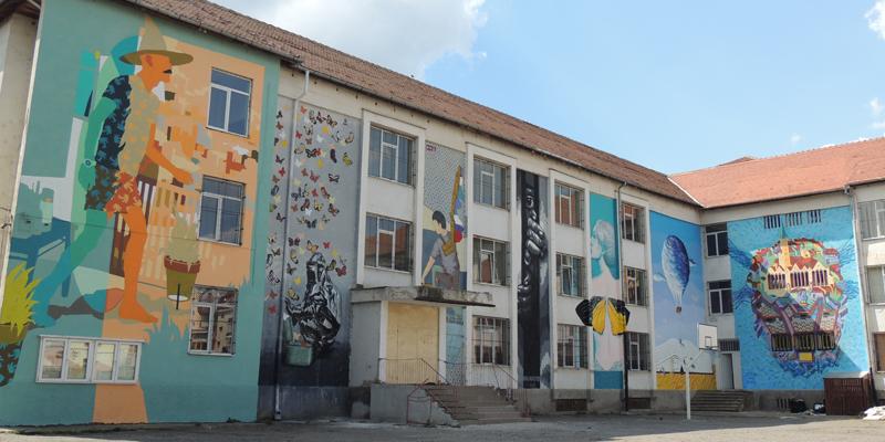 18 lucrări de artă stradală realizate în cadrul Sibiu Street Art Festival