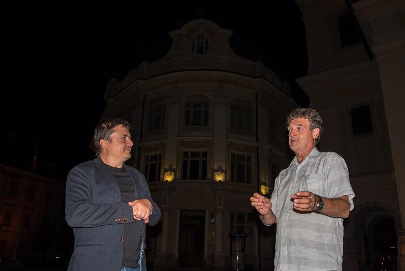 Cristian Mungiu si Ovidiu Dragoman (director Teatrul de Balet Sibiu)