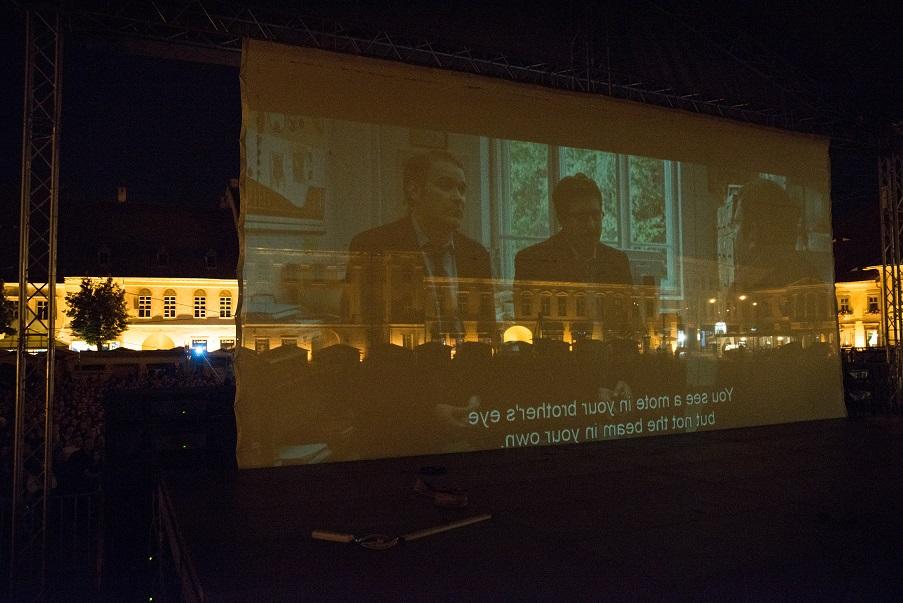 "Proiectie ""Bacalaureat"" (Piata Mare, Sibiu)"