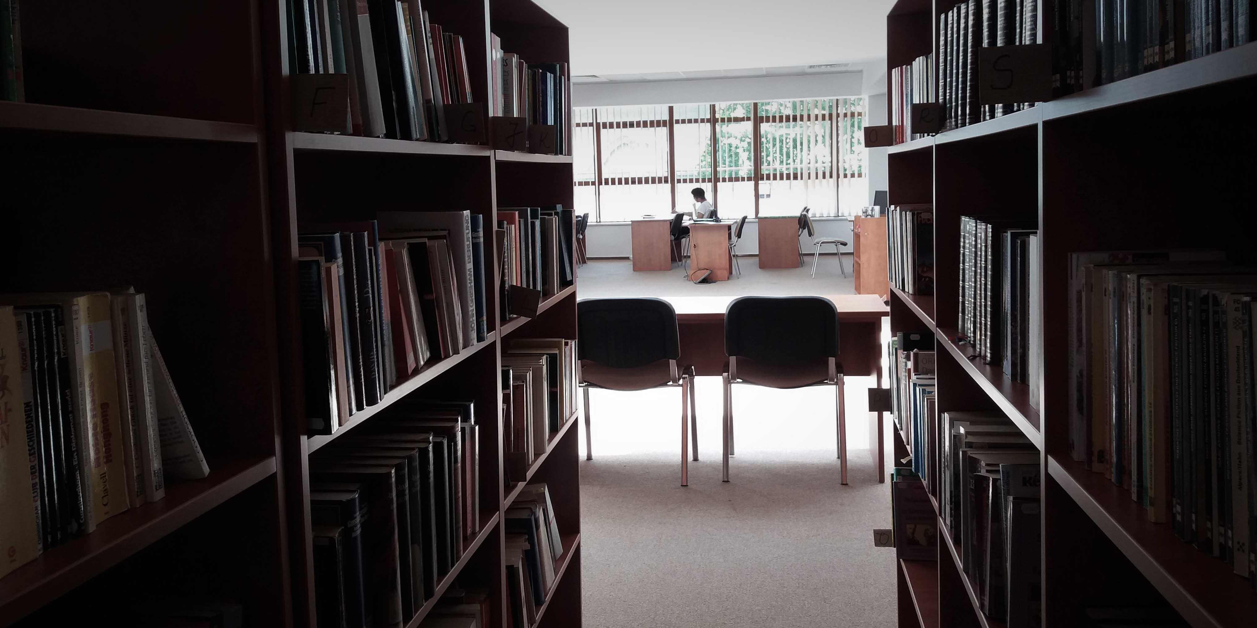 Sala de Lectură în mansarda Bibliotecii Județene ASTRA